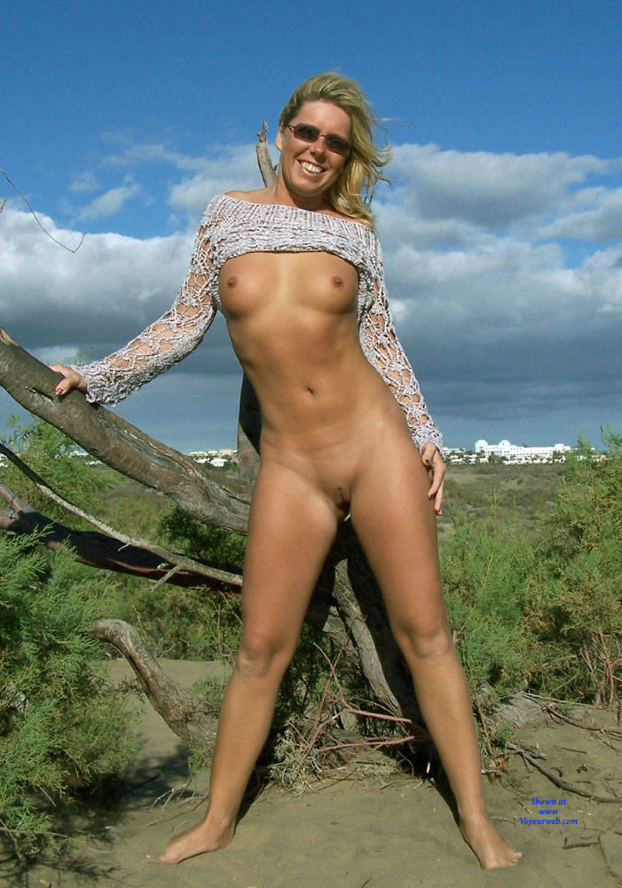 Pic #1Sexy Beach Posing  - Beach, Blonde, Shaved