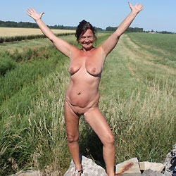 On The Road Again - Mature, Brunette, Big Tits, Striptease