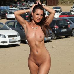 A Naked Day's Exploring - Brunette, Public Exhibitionist, Public Place