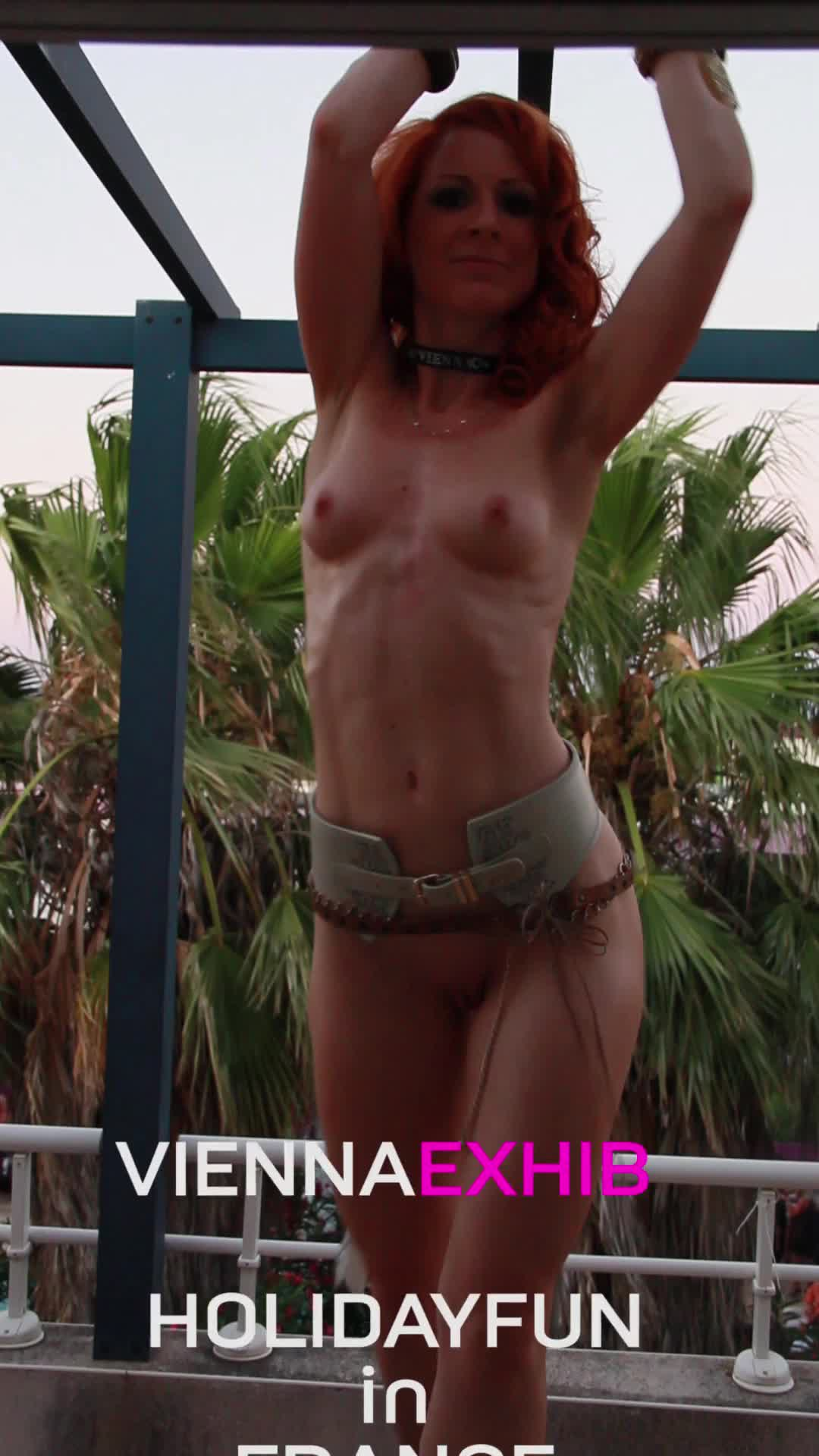 Pic #1Vienna - Hot Holiday Fun in France - Firm Ass, Outdoors, Redhead, Shaved