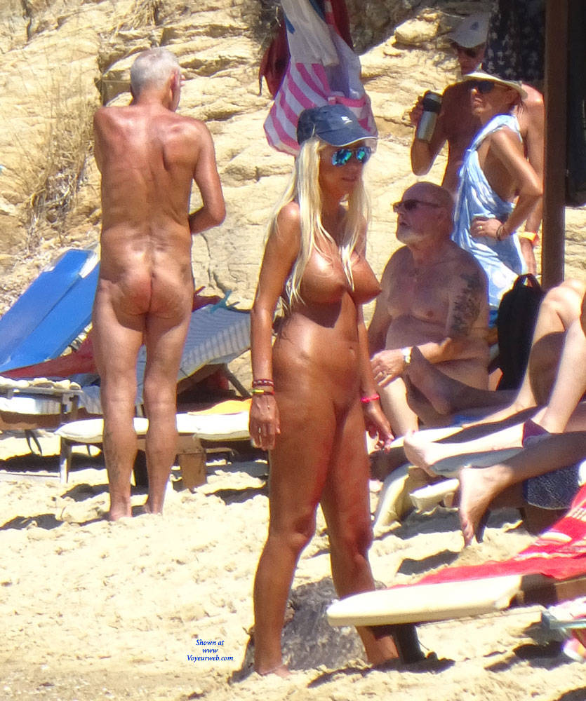 Pic #1The Second Nude Skiathos  - Beach Voyeur, Big Tits, Blonde