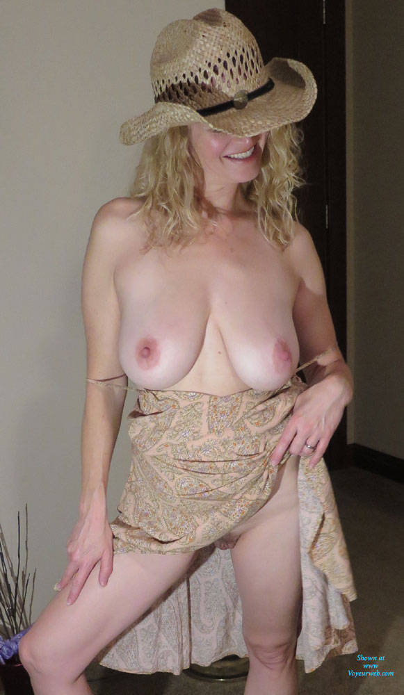 Sexy Blonde Cowgirl Delight - Big Tits, Blonde Hair, Pussy Lips, Showing Tits, Sexy Boobs, Sexy Legs, Wife/wives , Cowgirl, Nude, Blonde, Tits, Pussy
