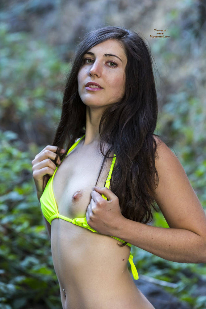 Brunette Showing Nipples In The Woods - Brunette Hair, Erect Nipples, Nipples, Nude In Nature, Nude In Public, Nude Outdoors, Sexy Body , Naked, Brunette, Woods, Nipples