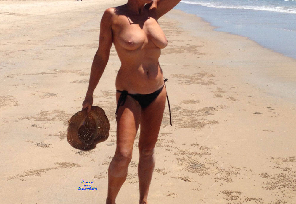 Pic #1Same Day At Beach - Beach, Big Tits, Outdoors