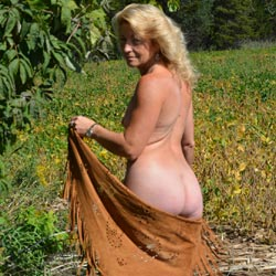 What A Day - Outdoors, Mature, Blonde, Shaved