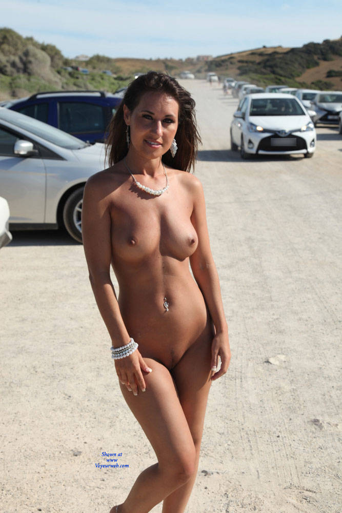 Pic #1Naked Day Exploring Part 2 - Big Tits, Brunette, Public Exhibitionist, Public Place