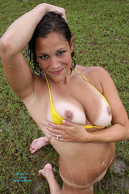 Perfect tits nipples wet