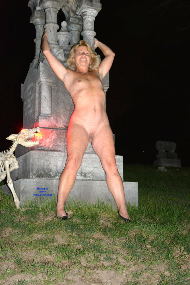 Pic #1Halloween Fun Part 2 - Shaved, Outdoors, Blonde, Small Tits
