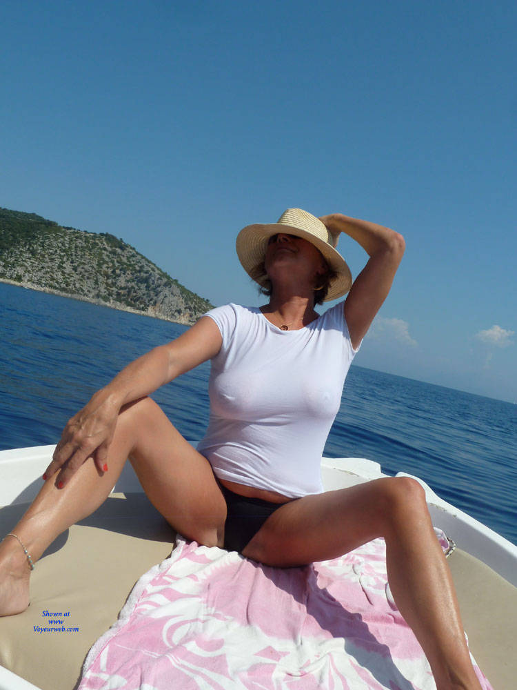 Pic #1Greek Holiday 4 - Big Tits, Outdoors, See Through