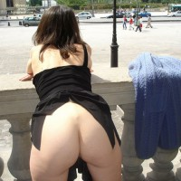 Milf Ass Flash - Exhibitionist, Flashing, Milf , Public Butt Flash, Public Flash, Teasing Raised Skirt No Panties, Bare Ass On Balcony, Lovely Curvy Buttocks, Bottomless Raised Skirt From Behind, Showing Off Her Bum, Bending Over, Bent Over To Display Ass