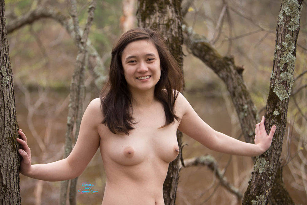 Pic #1Nude At The River - Body Piercings, Brunette, Nature, Outdoors, Asian