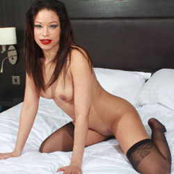 Red Lips Nat Naked On Bed - Bed, Brunette Hair, Erect Nipples, Nipples, Perfect Tits, Shaved Pussy, Sexy Legs, Sexy Lingerie , Stockings, Red Lips, Nude, Bed, Nipples