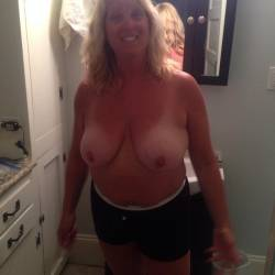 Large tits of my wife - Deborah