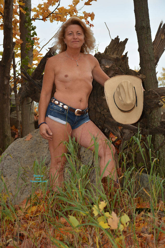 Pic #1Fall Colors - Small Tits, Outdoors, Blonde, Nature