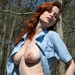 Pic #1Cowboy Denim - Big Tits, Outdoors, Redhead, Shaved, Nature