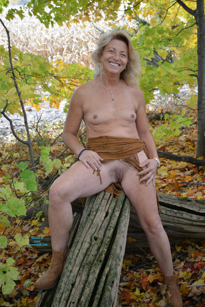 Pic #1Part 2 Of Fall Colors - Blonde, Outdoors, Small Tits, Nature