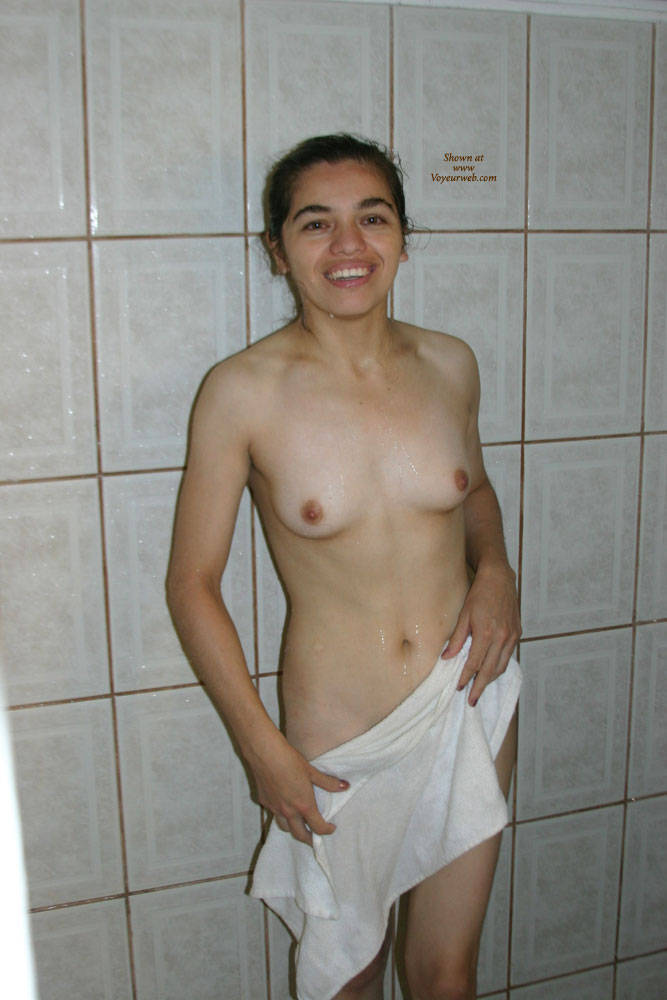 Pic #1In The Shower - Brunette, Small Tits, Bush Or Hairy