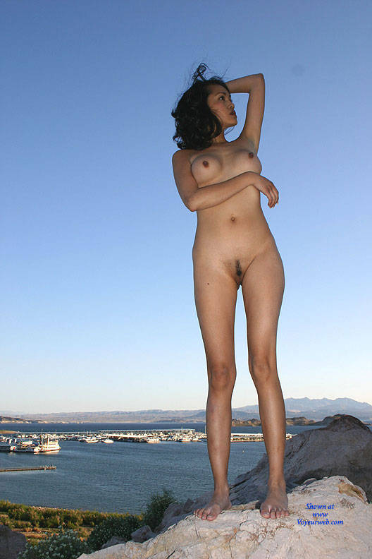 Pic #1Lake Mead At Sunset - Big Tits, Brunette, Outdoors, Nature