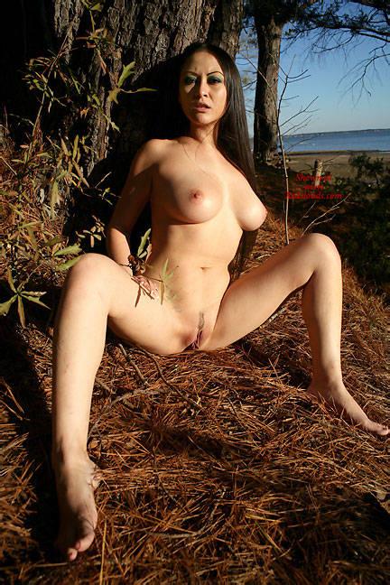 Pic #1Pine Tree Sunshine - Big Tits, Brunette, Outdoors, Nature