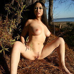 Showing Pussy under a Pine Tree - Asian Girl, Big Tits, Brunette Hair, Firm Tits, Full Nude, Long Hair, Nude In Nature, Nude In Public, Nude Outdoors, Pussy Lips, Shaved Pussy, Sexy Body , Sexy Asian, Nude, Nature, Pussy Lips