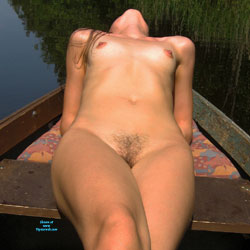 Naked Sexy Girl In The Boat - Outdoors, Bush Or Hairy