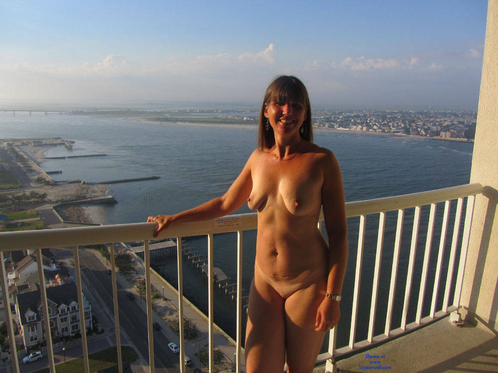 Pic #1Sandra At AC From Hotel Balcony - Big Tits, Brunette