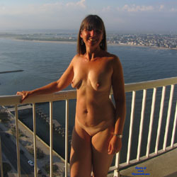 Sandra At AC From Hotel Balcony - Big Tits, Brunette