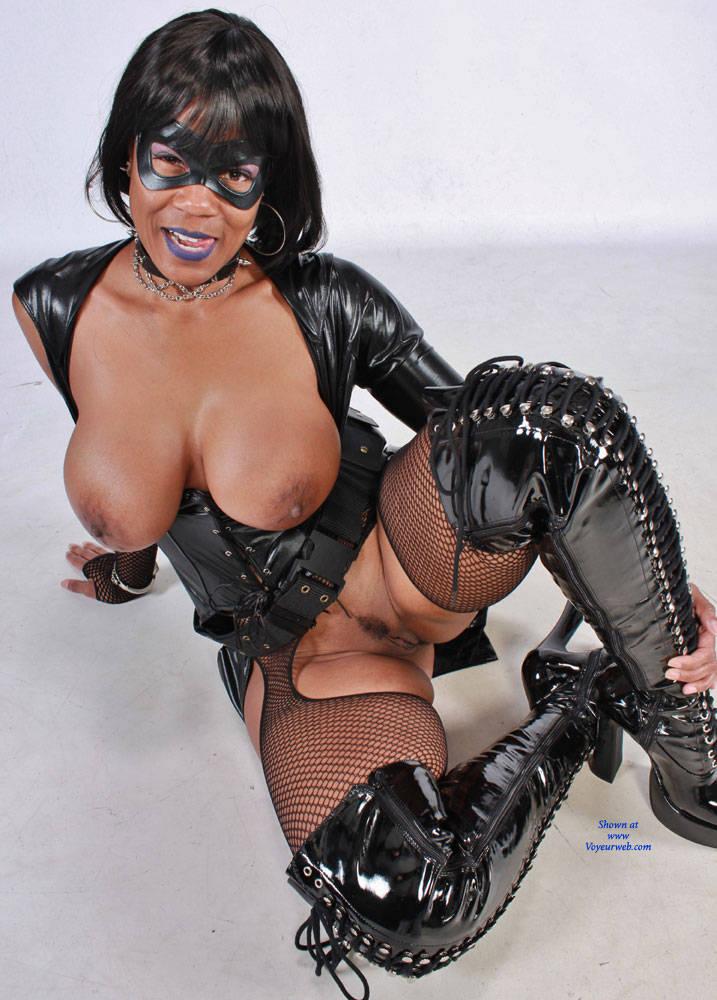 Pic #1Cosplay Raven - High Heels Amateurs, Ebony, Brunette, Big Tits, Costume