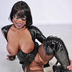Cosplay Raven - High Heels Amateurs, Ebony, Brunette, Big Tits, Costume