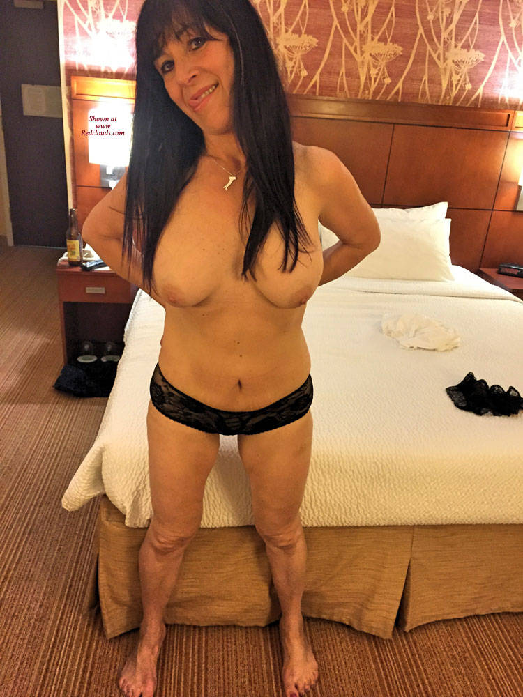 Pic #1Shows Her New Sexy Panties - Big Tits, Brunette, Lingerie