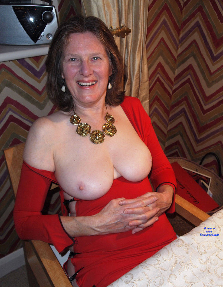 Pic #1 Christmas Eve  - Big Tits, Brunette, Shaved