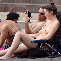 Beach Tits - Outdoors, Brunette, Beach Voyeur