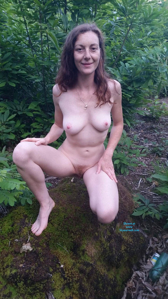 Pic #1 French Wife Audrey Exposed - Nature, Wife/wives, Redhead, Outdoors, Medium Tits