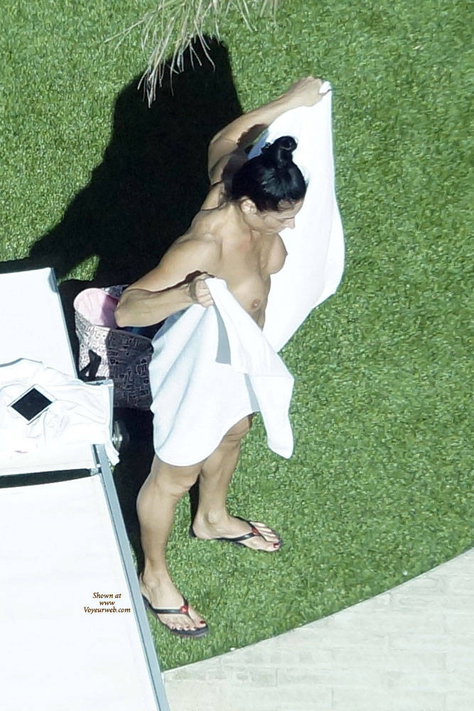 Pic #1Sexy At The Pool - Public Place, Outdoors, Brunette, Firm Ass