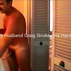 Craig Strokes His Hard Cock - Penetration Or Hardcore, Close-ups, Pussy Fucking, Amateur