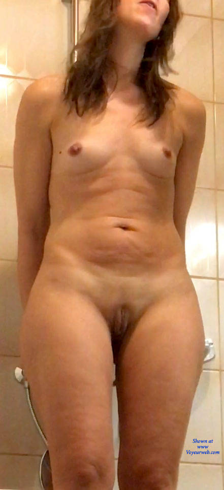 Pic #1 Standing - Small Tits, Shaved, Amateur