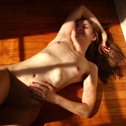 Naked On Hardwood Floor - Brown Hair, Full Nude, Indoors, Lying Down, Natural Tits, Shaved Pussy, Small Tits, Sexy Body, Sexy Legs, Amateur , Nude, Naked, Small Tits, Shaved Pussy