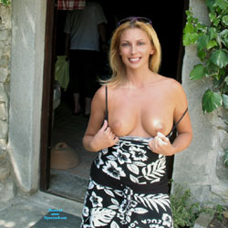 Nude Blonde Showing Tits
