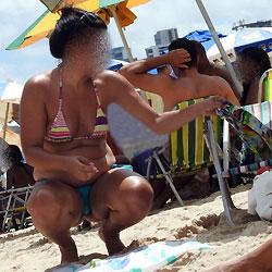 Blue Bikin From Boa Viagem Beach, Brazil - Bikini Voyeur, Beach Voyeur, Outdoors