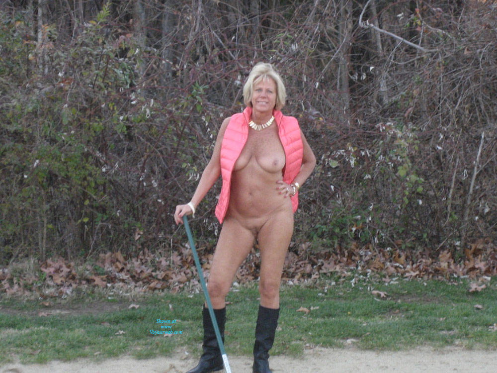 Nude On Golf Course 102