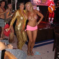 Biggest Tits Contest - Topless Girls, Public Exhibitionist, Outdoors, Public Place, Amateur