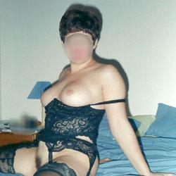 Jayne In Black - Big Tits, Brunette, Lingerie