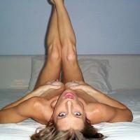 Bed Grabbing Breasts - Erect Nipples , Bed Grabbing Breasts, Bed Legs Up, Squeezing Tits, Erect Nipples