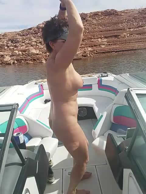 Pic #1Dancing Naked On The Boat - Nude Girls, Big Tits, Brunette, Outdoors, Bush Or Hairy, Mature