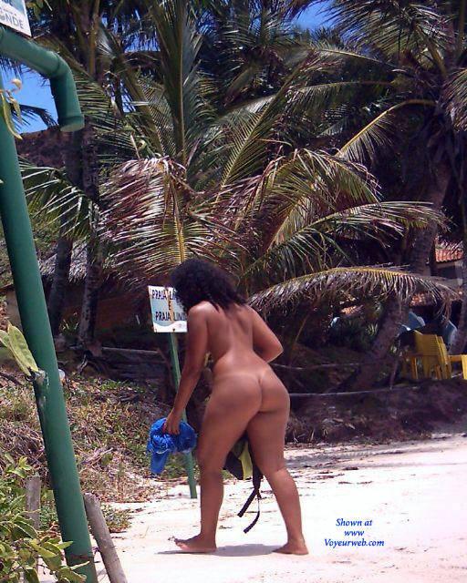Pic #1Couple In Tambaba Beach, Brazil - Brunette, Outdoors, Beach Voyeur, Nude Girls