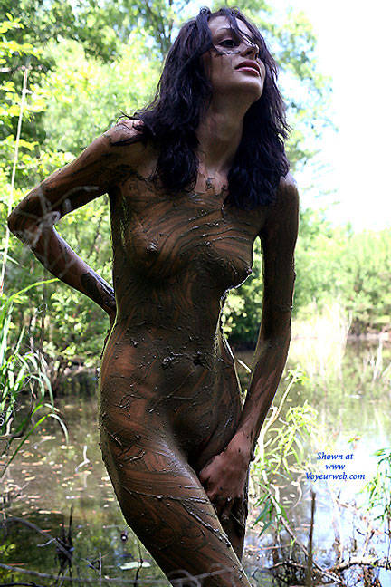 sexy girls mastabate with mud