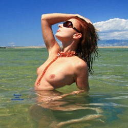 Summer Beach Nudity - Nude In Nature, Nude Outdoors, Redhead, Showing Tits, Sunglasses, Water, Wet, Beach Tits, Beach Voyeur, Naked Girl, Sexy Face, Sexy Woman , Redhead, Outdoors, Beach, Nude, Naked, Small Tits, Necklace, Sunglasses
