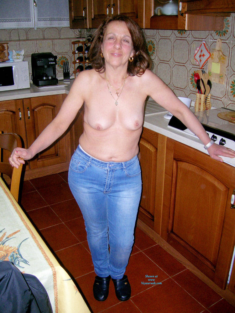 Taking pictures of my naked wife