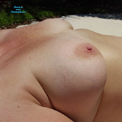 Emily At Pool - Nude Amateurs, Big Tits, Outdoors
