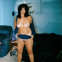 Medium tits of my wife - nervous mom